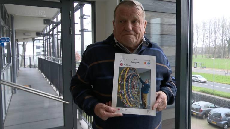 Opa K'nex zijn reuzenrad is gestolen in Breda